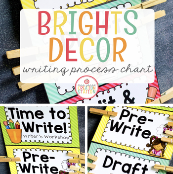 Writing Chart {Brights Classroom Set}