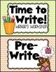 Writing Chart {Chevron Classroom Set}