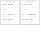 Writing Check List
