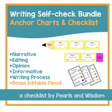 """Writing Check List and Anchor Charts Bundle - With """"I Can"""" Statements"""