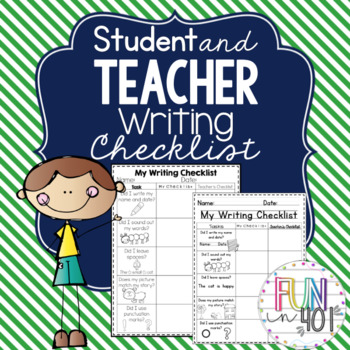 Student & Teacher Writing Checklist!