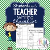 Student & Teacher Writing Checklist!