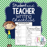 Student & Teacher Writing Checklist for Little Learners!