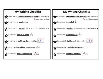 Writing Checklist!