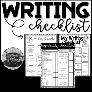 Writing Checklist Pack