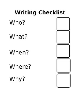 Writing Checklist