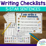 Student Writing Checklist | 5 Star Sentences
