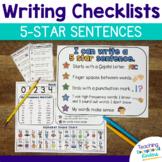 Student Writing Checklist | 5 Star Sentences