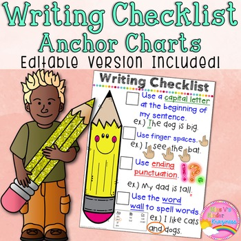 EDITABLE Writing Checklist Anchor Chart