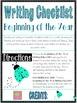 Writing Checklist- Beginning of the Year
