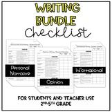 Writing Checklist *Bundle* (Personal Narrative, Informatio