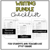 Writing Checklist *Bundle* (Personal Narrative, Informatio