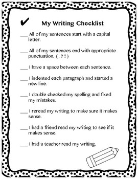 Writing Checklist Bundles