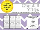 Writing Checklist: Check It Strips