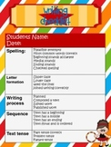 Writing Checklist - Circus Theme