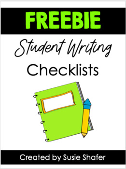 Writing Checklist (FREEBIE!)