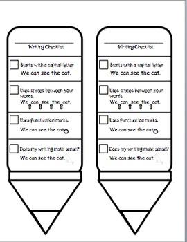 Writing Checklist FREEBIE
