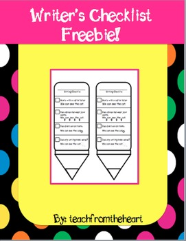 Writing Checklist FREEBIE