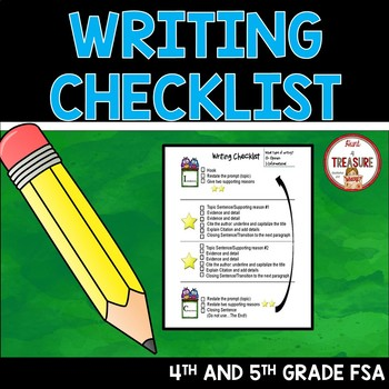Writing Checklist- Focused on 4th and 5th grade FSA Writing