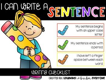 Writing Checklist *Freebie*