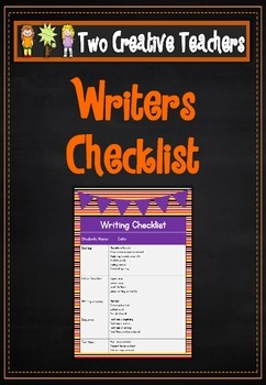 Writing Checklist - Mickey Theme