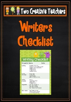 Writing Checklist - Monster Theme