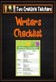 Writing Checklist - Monster Theme