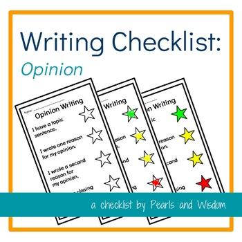 Writing Checklist - Opinion