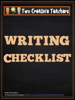 Writing Checklist - Pirate Theme
