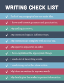 Writing Checklist Poster (8.5x11)