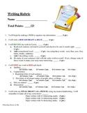 Writing Checklist Rubric