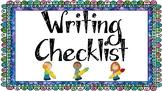 Writing Checklist Set