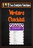 Writing Checklist - Sock Monkey Theme