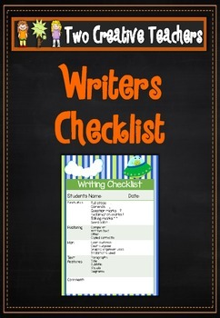 Writing Checklist - Space Theme