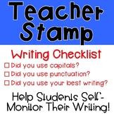 Writing Checklist Stamp