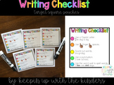 Writing Checklist Target Square Pouches with matching clas