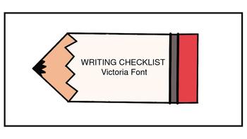 Writing Checklist-Victoria Font