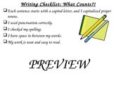 Writing Checklist: What Counts Poster