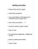 Writing Checklist (With Punctuation Guide)
