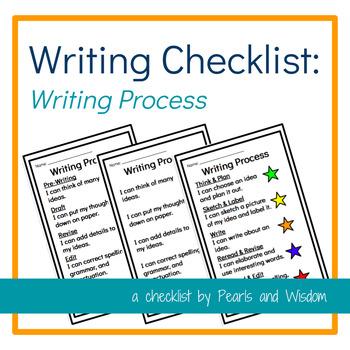 Writing Checklist - Writing Process