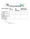 Writing Checklist and Brainstorm Web (In color!)