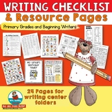 Writing Checklist | Resource Pages | Writing Folders