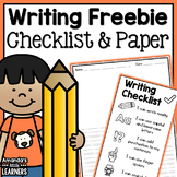 Writing Checklist and Paper - Free