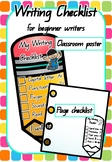 Writing Checklist for Beginning Writers