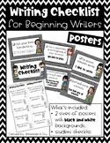 Writing Checklist for Beginning Writers - neutral backgrounds
