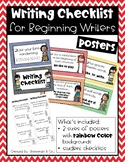 Writing Checklist for Beginning Writers - primary colors