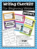 Writing Checklist for Beginning Writiers - bright backgrounds