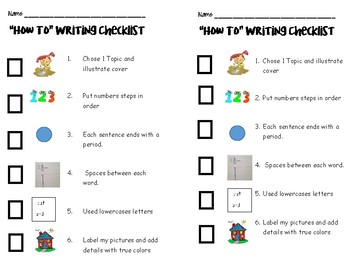 "Writing Checklist for ""How to"" Books"