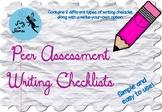 Writing Checklist for Peer Assessment