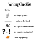 Writing Checklist for Primary Students